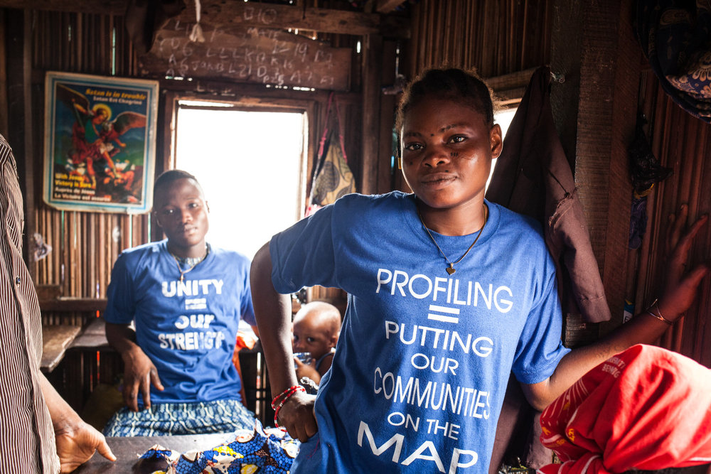 Some of the apprentices are also members of the Nigerian Slum / Informal Settlement Federation. One of the many tasks being undertaken by the Federation is to profile the communities.  Community profiling, mapping and enumerations gather data that can be used to identify our needs and urban planning solutions.