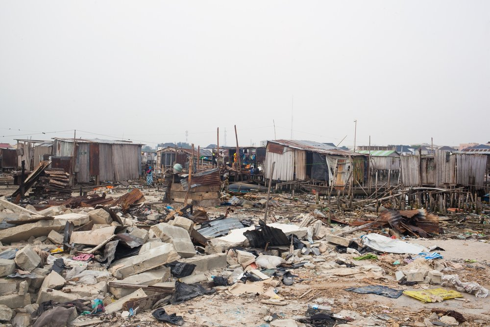 The small fishing community of Otodo Gbame is one of many waterfront settlements in Lagos that is under constant threat of eviction. In November 2016 homes were destroyed and thousands of residents forced to flee.