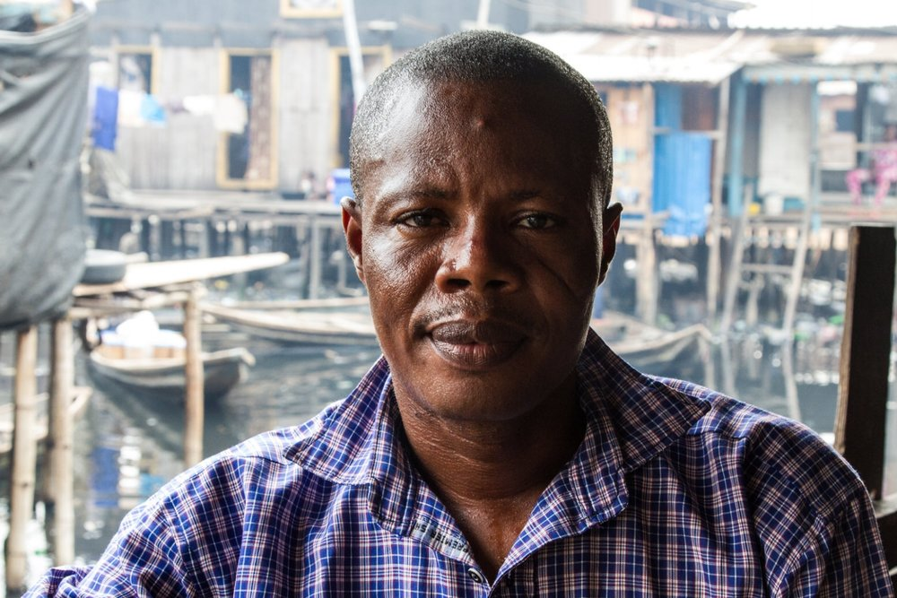 Gerard Avlessi is a community leader in Sogunro. He is also a member of the Nigerian Slum / Informal Settlement Federation, and has been involved in Federation activities for the last few years.  He and a few others have been leading the outreach to other Egun communities in Cotonou, Benin.