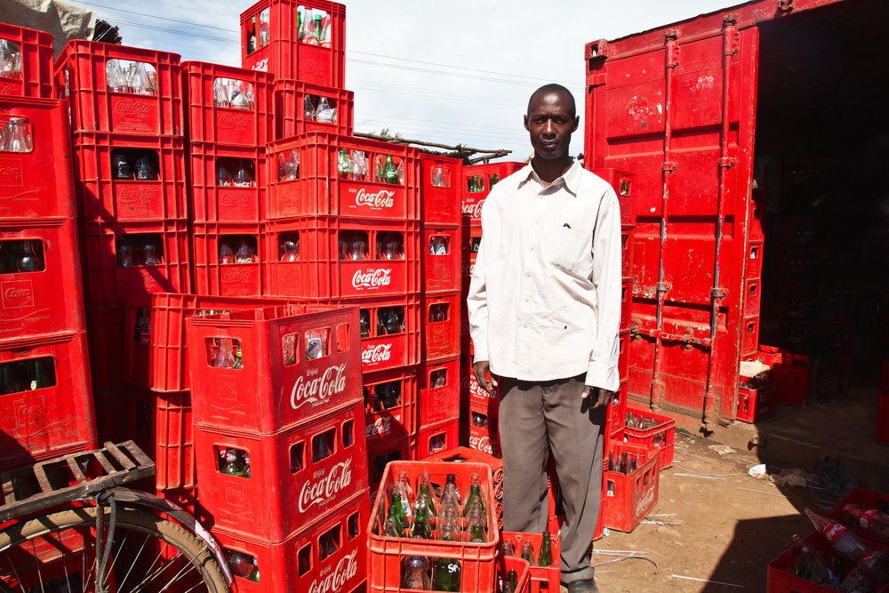 Richard Odhiameo    is a Coca Cola trader and distributor having started his own business in Kondele. For Richard it is important that he is located by the road side to conduct his business. After meeting the city planner he was told that Kondele will soon be evicted. He fears his structure will be broken in the relocation process.