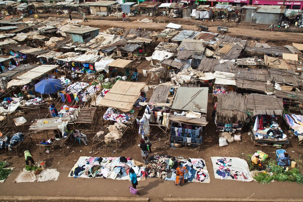 Kondele market from above.