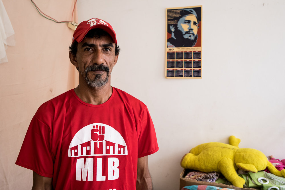 Marcos Antônio is a leader of the MLB socialist movement and a resident of the occupation. For MLB, the occupation serves primarily as a way of increasing the use value of the building over its commercial exchange value in order to advance a nation-wide urban reform.