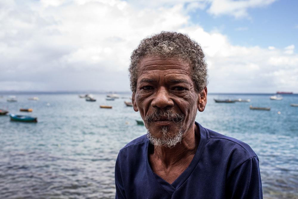 A fisherman from Gamboa de Baixo.