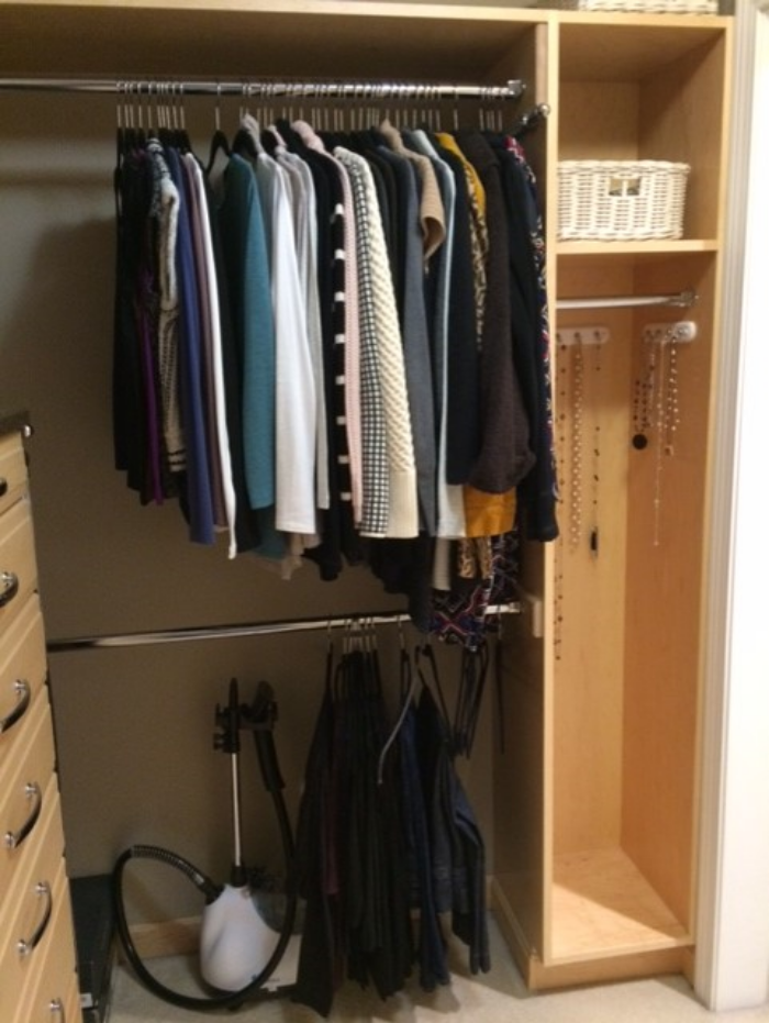 This is a photo of my actual closet.
