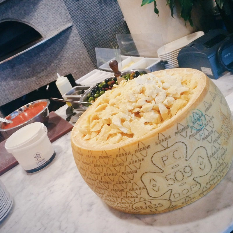 Grana Padano cheese wheel