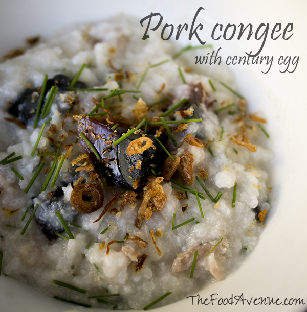 Pork congee with century egg