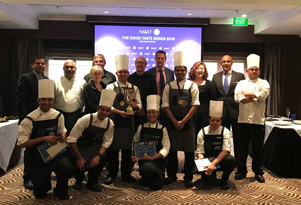 Image supplied: me with the competitors and my fellow judges!