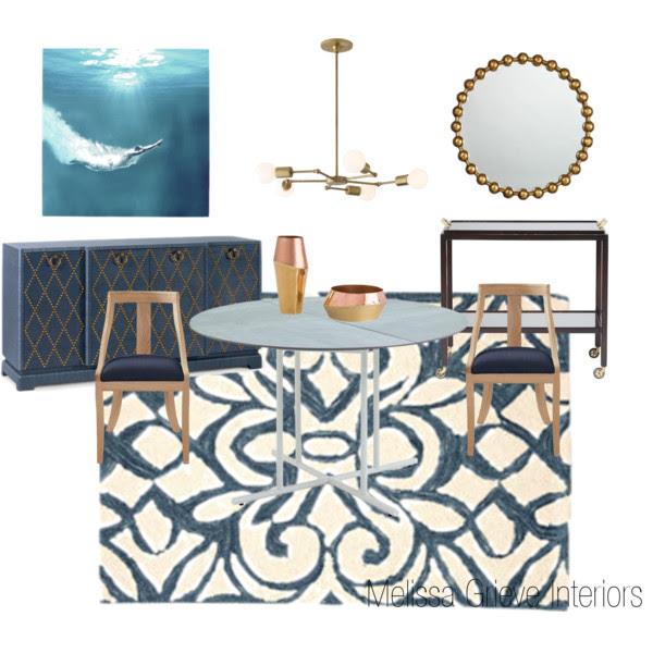 Dining Room Mood Board Design Example