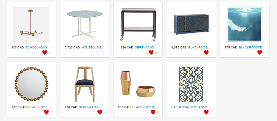 dining room design example product list.PNG