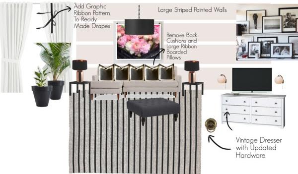 Family Room Design Board 1