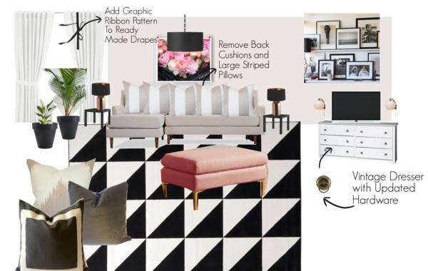 Family Room Design Board 4