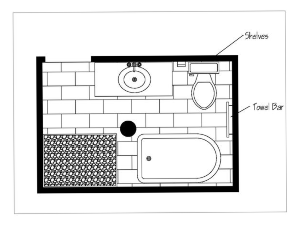 Online Interior Design Bathroom Floor Plan