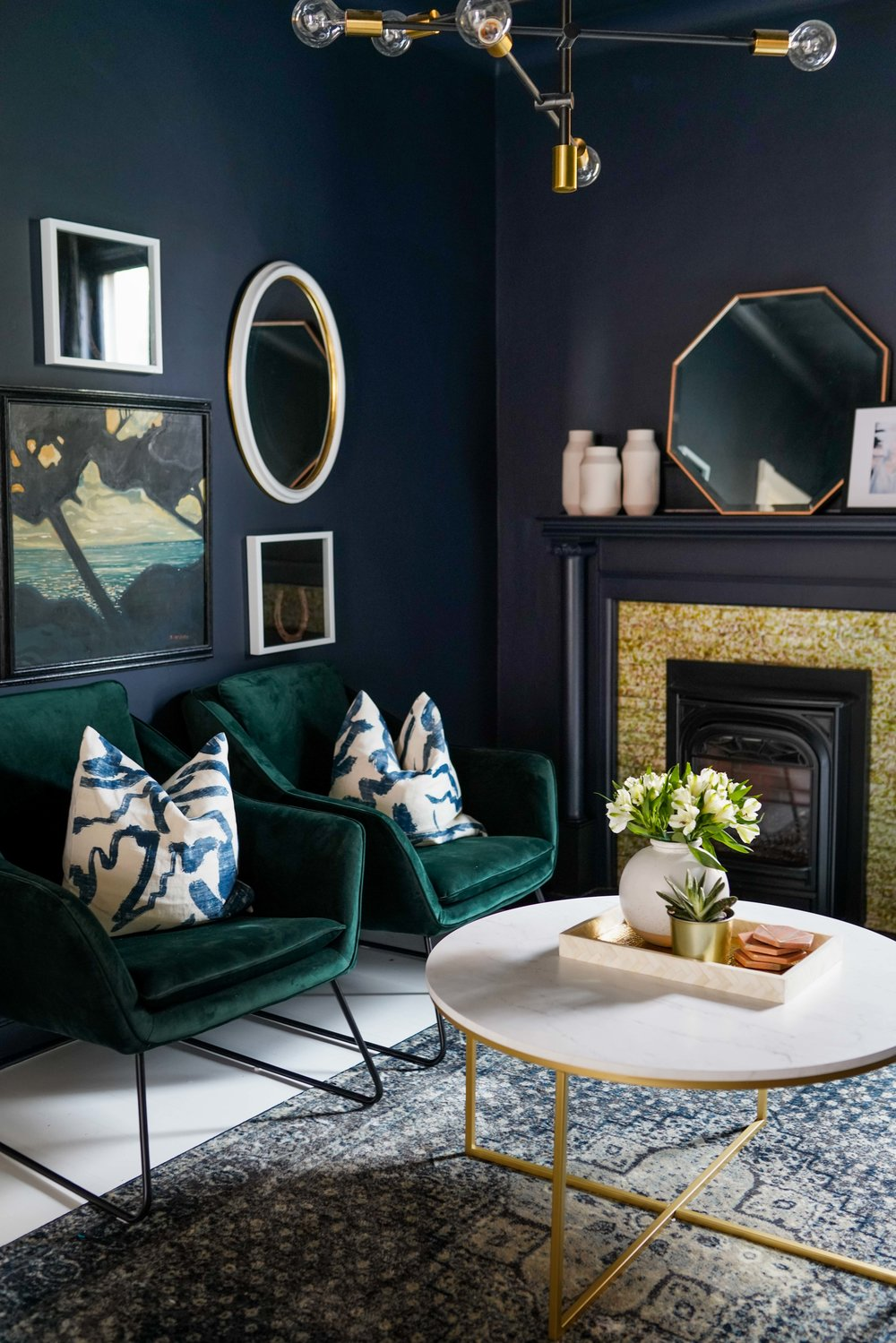Dark Blue Painted Den