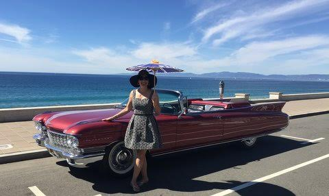 At Torrance Beach with my 1960 Cadi El Dorado Biarritz.
