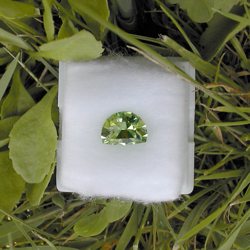 Green Flash design in Norwegian peridot (1.8 ct)