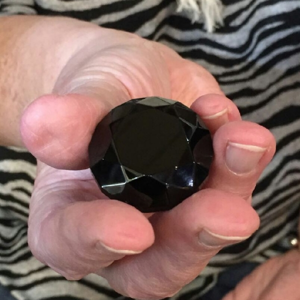 Possibly the largest faceted piece of jet