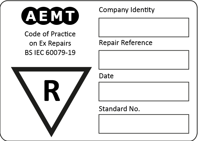 Sample Repair Nameplate
