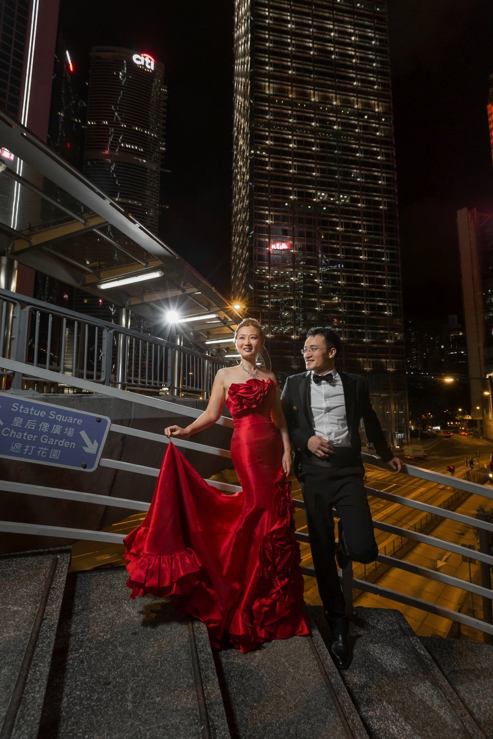 Hong Kong Prewedding - Central Night Scene