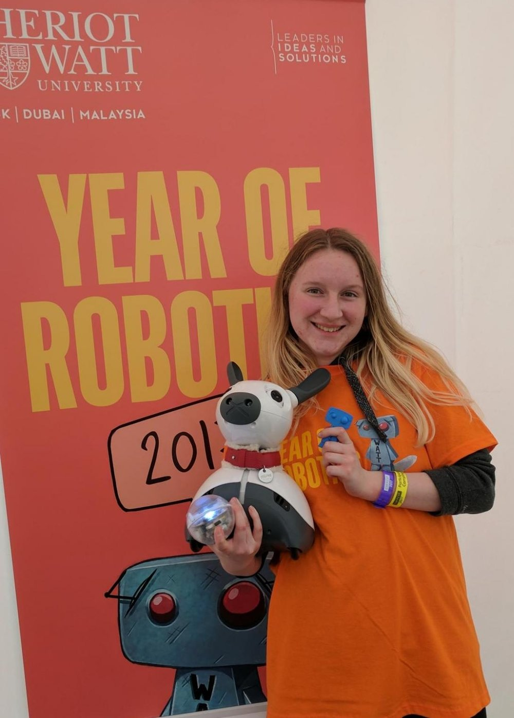 Miro at Heriot Watt University for the Year of Robotics 2017.