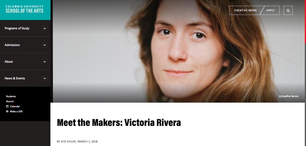 Columbia SOA Interview Victoria Rivera
