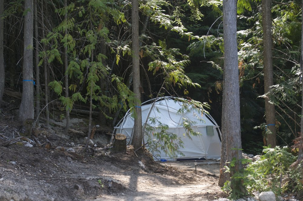 SHARE A DOME - Four Dual Occupancy Domes AvailableCost: $300 per person plus $15 taxDomes are made of a heavy vinyl, and have two twin beds, dresser, lamps, carpet, screen door.