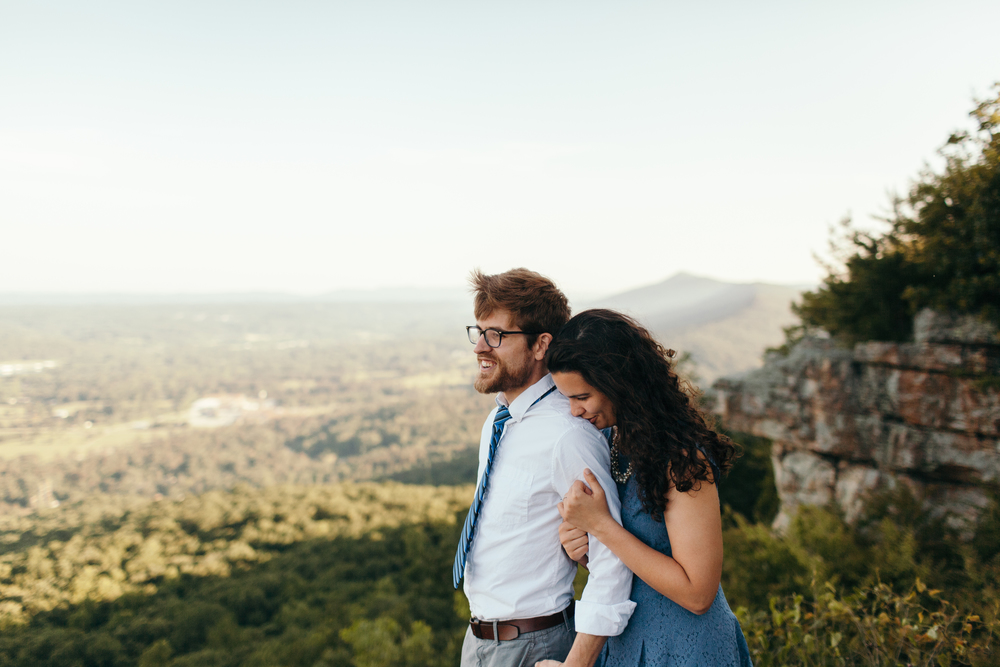 Engagement photo on Lookout Mountain