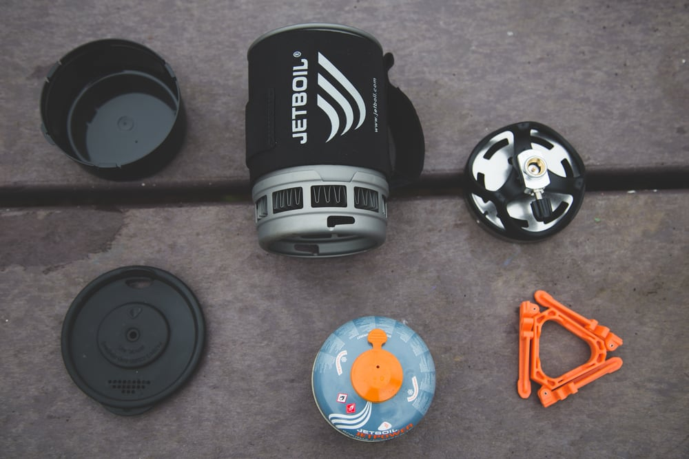 All parts of the Jetboil.