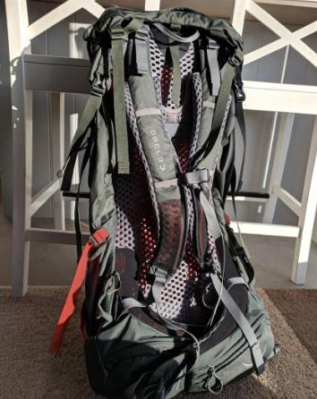 Back Of Osprey Atmos AG 50 Backpack