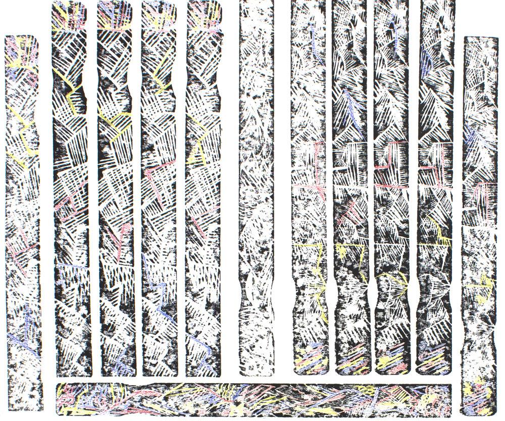 Woodcut, 16x14, 2014