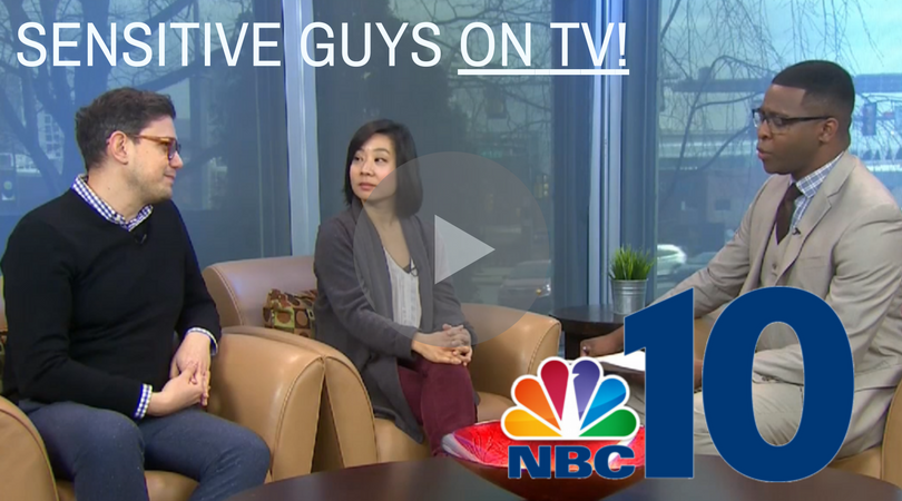 SENSITIVE GUYS ON TV!  Click to watch NBC10 video with Director Evren Odcikin and performer Bi Jean Ngo