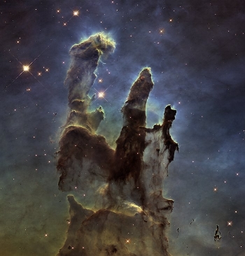 Pillars of Creation NASA photo from Hubble Telescope