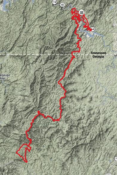 2014 Cohutta 100 Route
