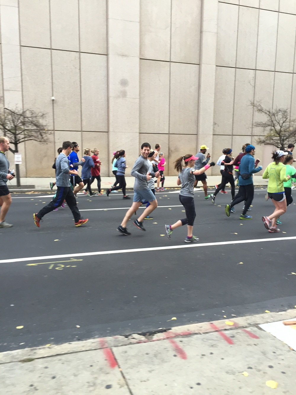 Cheering at the Philly Half