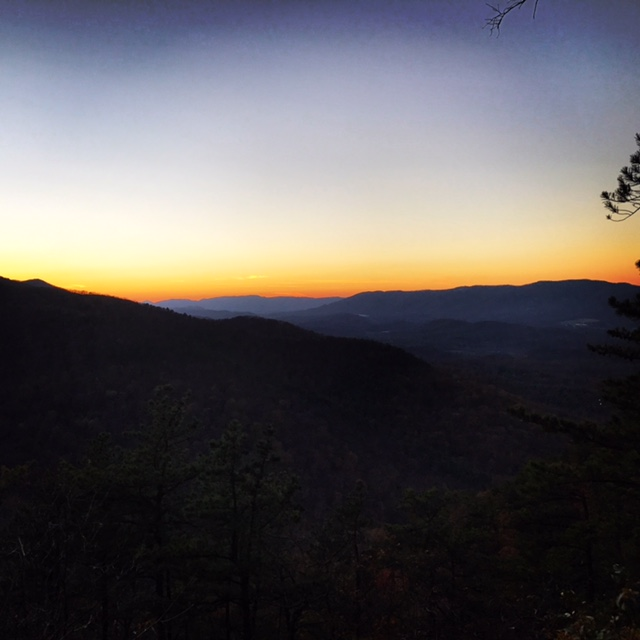 Sunset from Poor Mountain