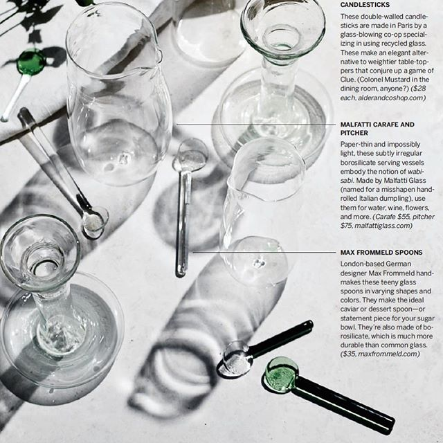 Thanks to @foodandwine for including my glass spoons in their current February issue.  #glassspoons #maxfrommeld