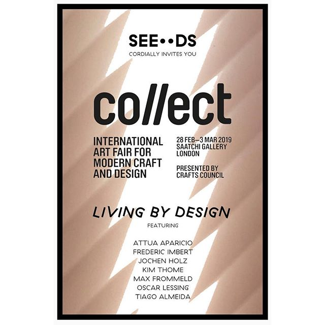 Happy to be able to show new work at COLLECT. Go and have a look @saatchi_gallery organised by @craftscouncil . Open from 28th February to 3rd March.  Thanks to @seedslondon for making this happen alongside great works by @jochen.holz @silostudio @attua.aparicio @kimthome @tiago.almd @f_imbertstudio