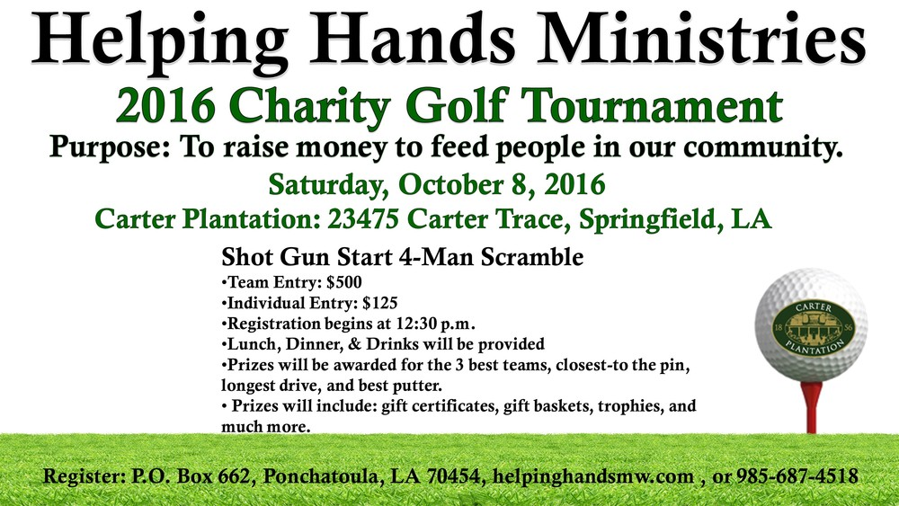 2016 Charity Golf Tournament