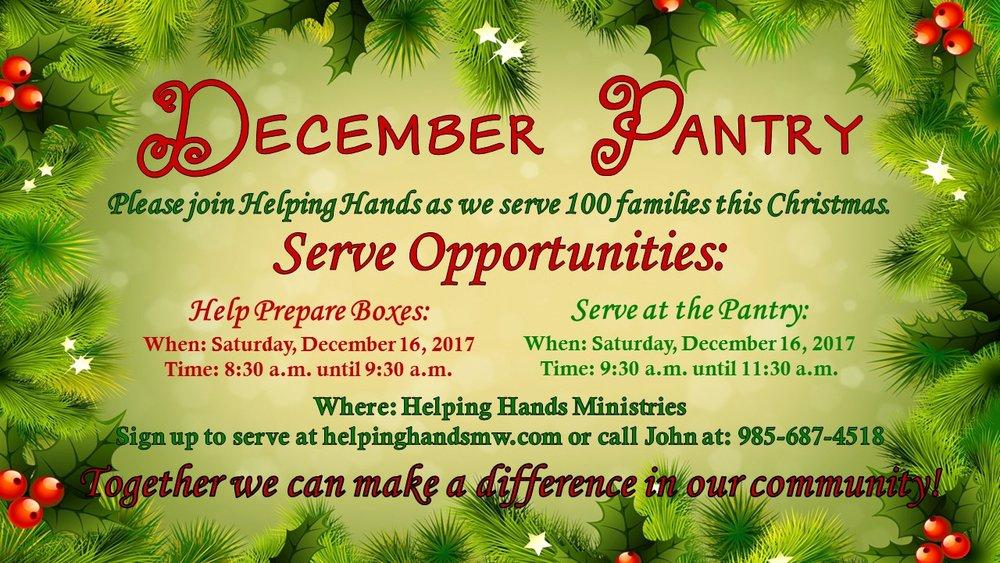 December Outreach