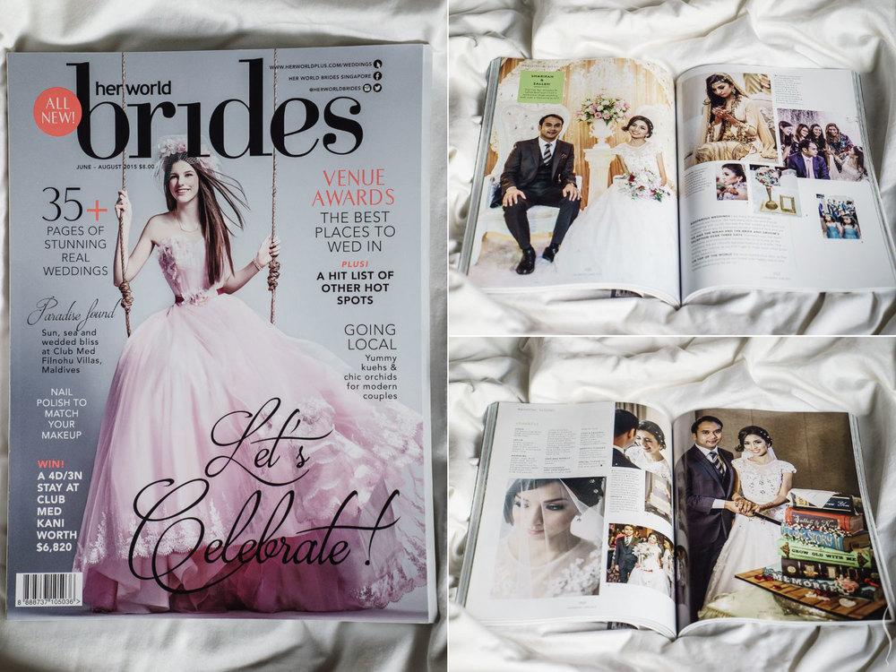 Simplifai Studios' feature at Her World Brides Singapore magazine.