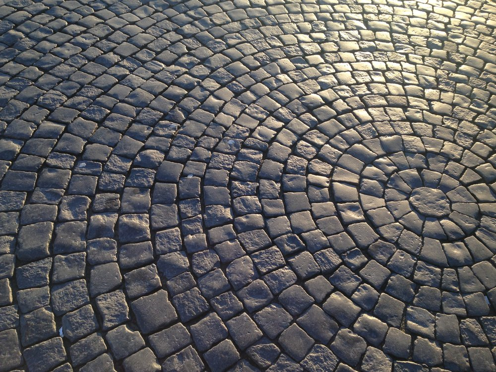 Cobblestone Street in Moscow, Russia