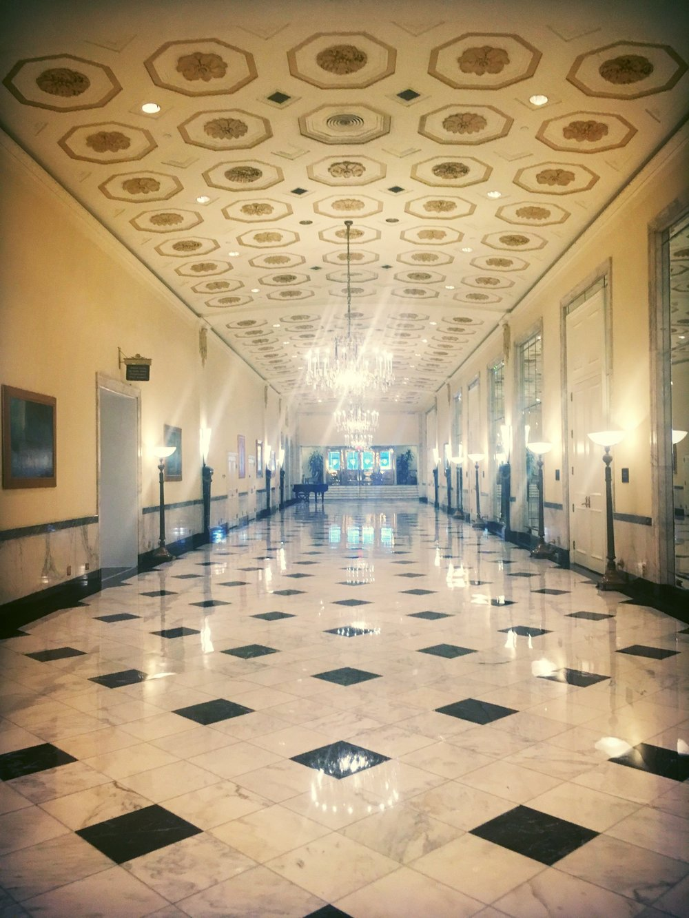 Inside the Mayflower Hotel in Washington, D.C.