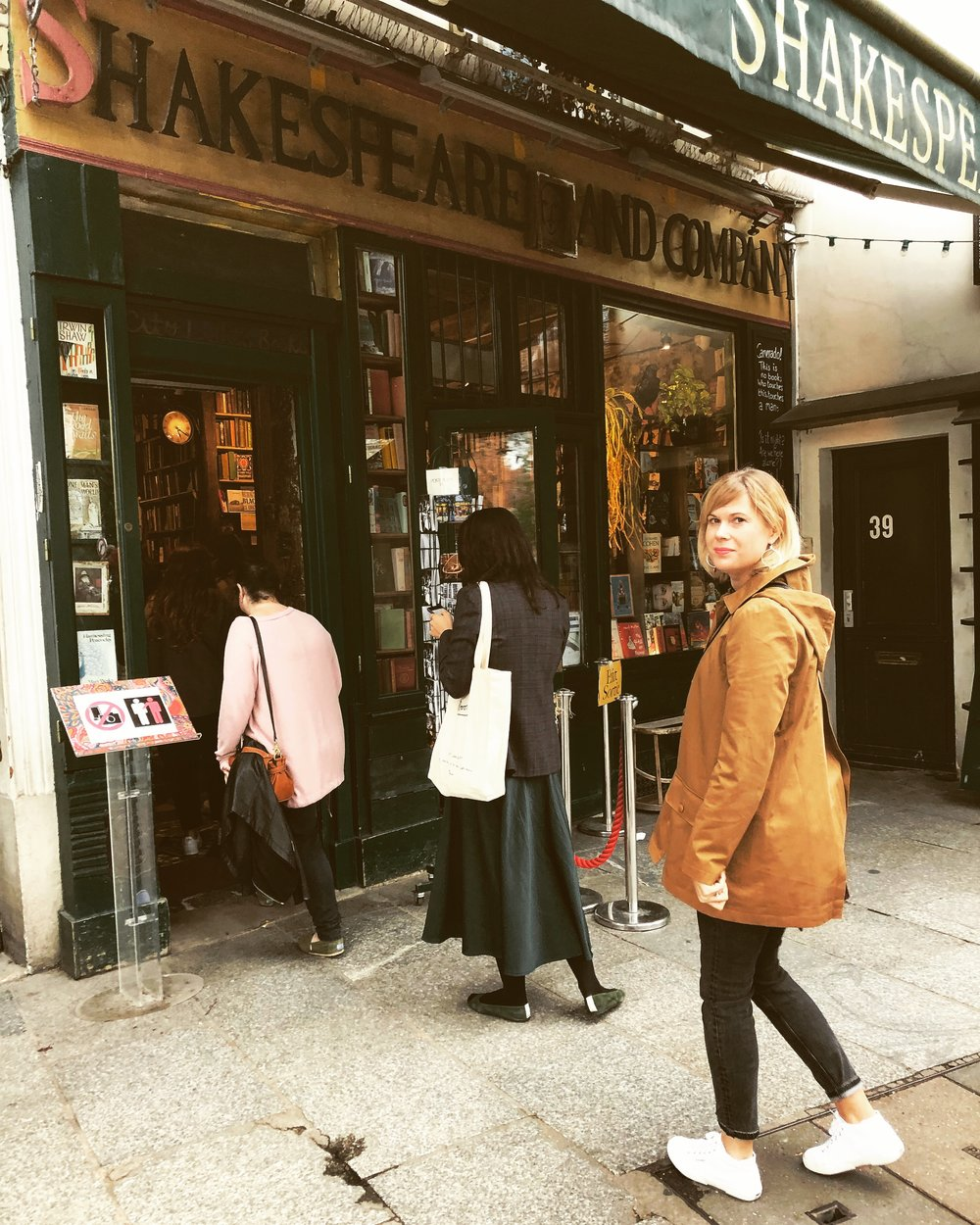 Shakespeare and Company in Paris, France