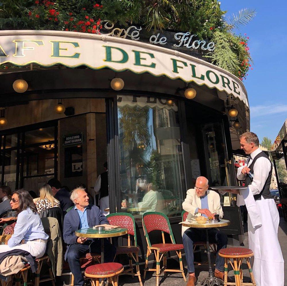 Café de Flore in Paris, France