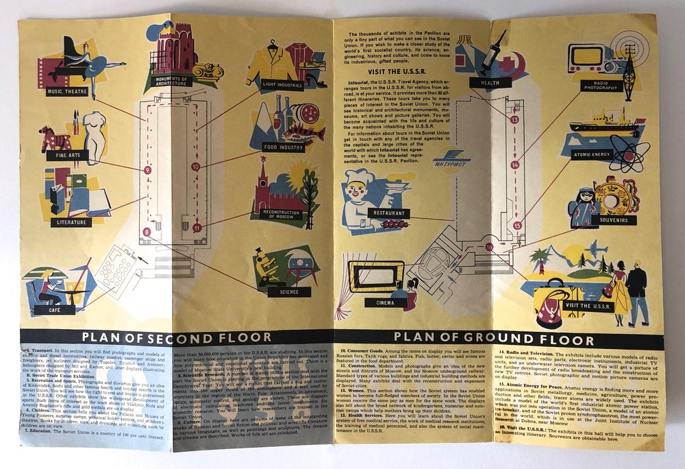 Other side of USSR Expo 58 pamphlet