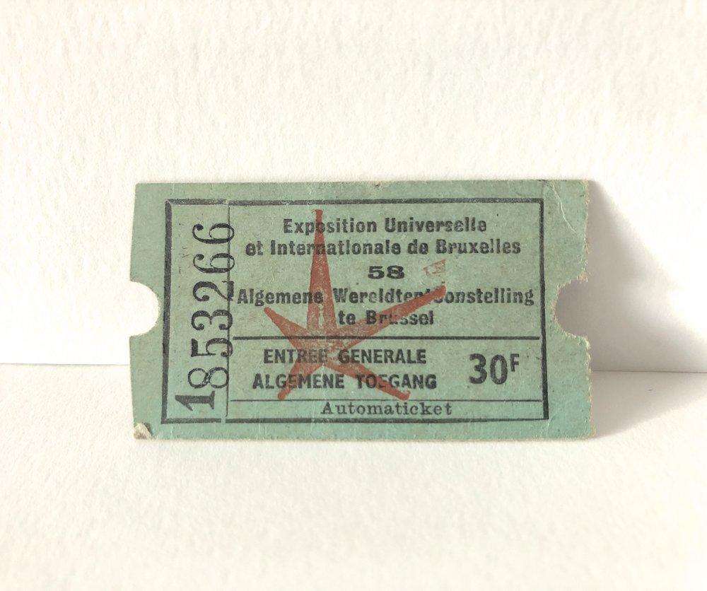Expo 58 Entrance Ticket