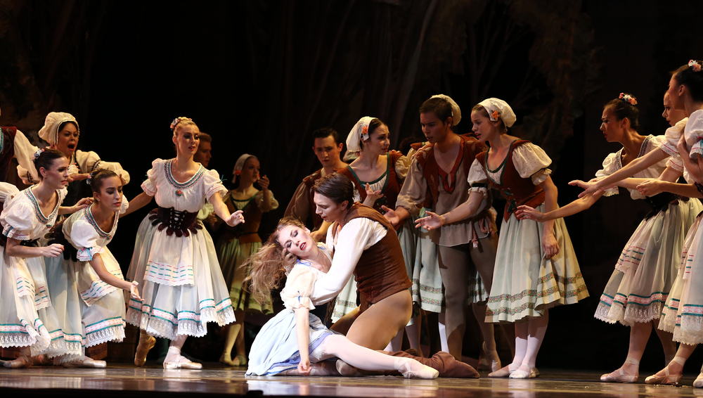 Photo by Bari Lee of Alexsandra Meijer and Brett Bauer in Alicia Alonso's Giselle.