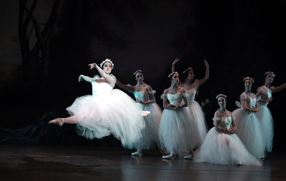 Photo of Amy Marie Briones and SVB in Alicia Alonso's  Giselle  by Bari Lee.