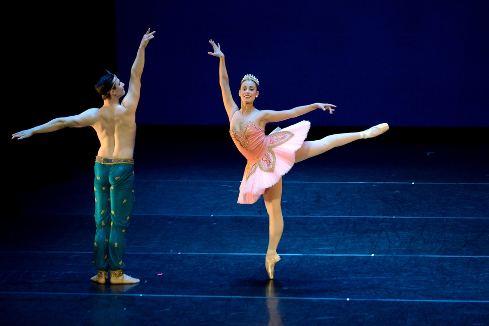 "Amy Marie Briones and Christopher Revels in the Pas de Deux from ""Le Corsaire"""