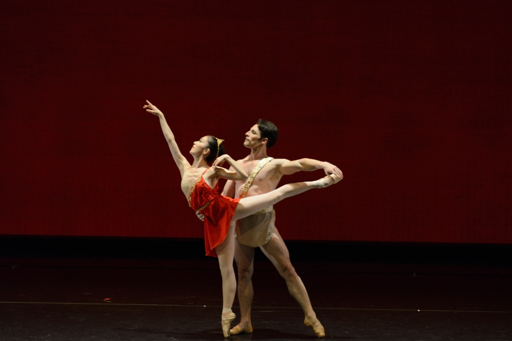 "Junna Ige and Mayekl Solas in the Pas de Deux from ""Diana and Acteon"""