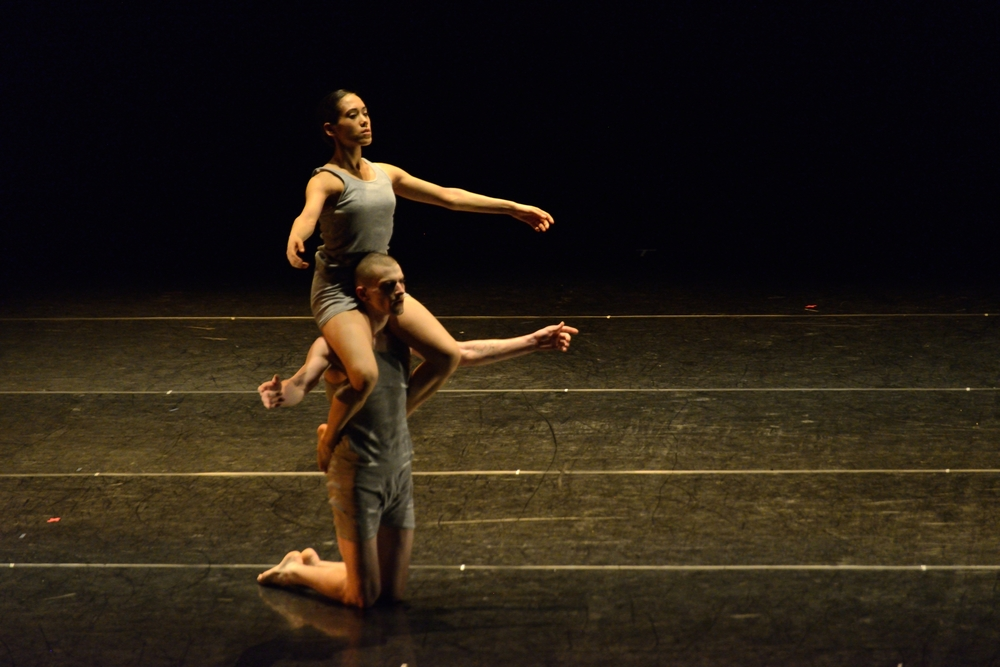 "Lahna Vanderbush and Kendall Teague in Ohad Naharin's ""Minus 16"""